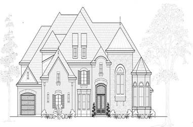 5-Bedroom, 6209 Sq Ft European House Plan - 134-1097 - Front Exterior