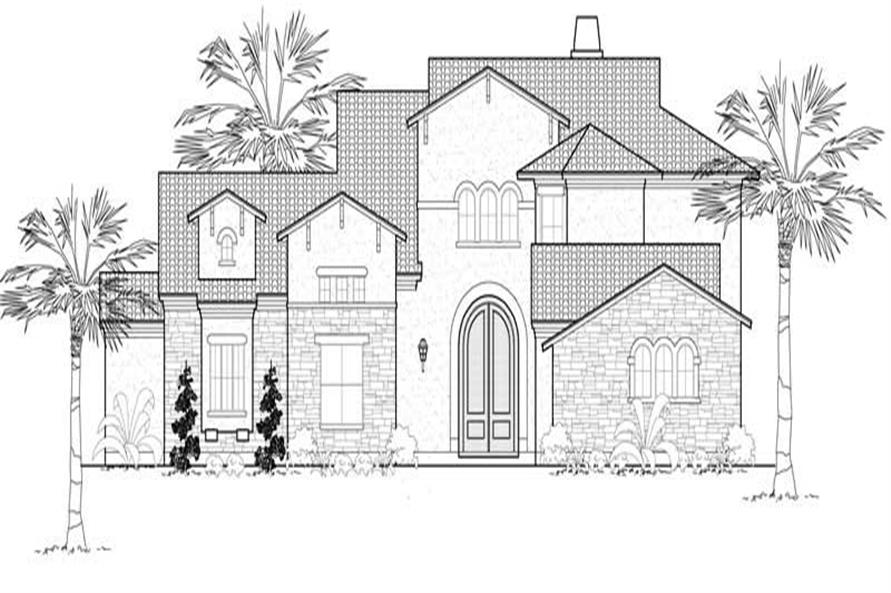 4-Bedroom, 4481 Sq Ft Mediterranean Home Plan - 134-1099 - Main Exterior