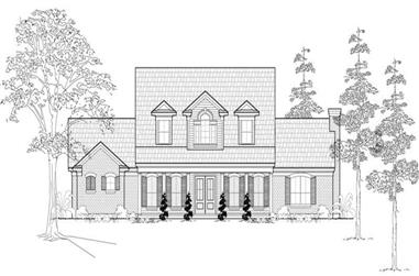 3-Bedroom, 3274 Sq Ft Country Home Plan - 134-1100 - Main Exterior