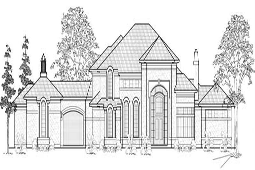5-Bedroom, 6798 Sq Ft European Home Plan - 134-1104 - Main Exterior