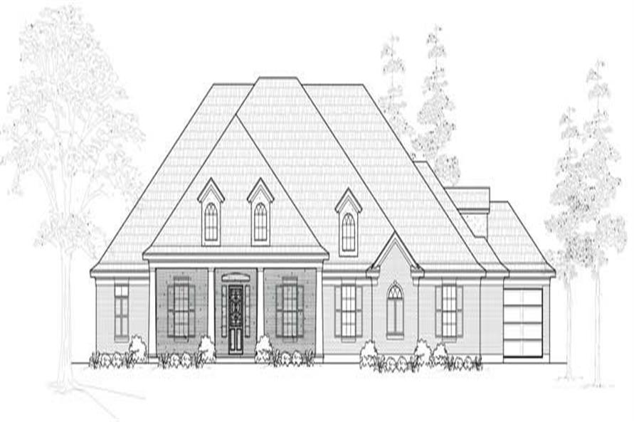 3-Bedroom, 3271 Sq Ft Ranch Home Plan - 134-1107 - Main Exterior