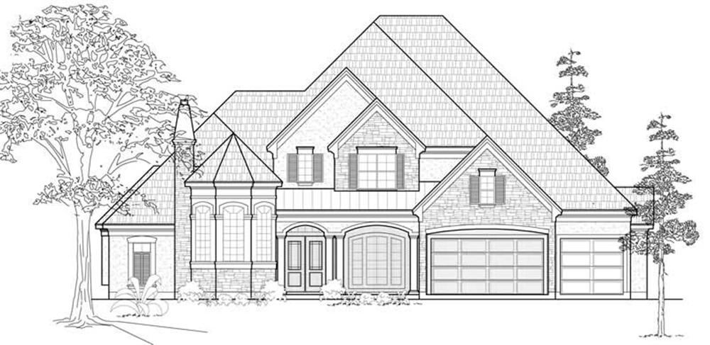 Luxury home (ThePlanCollection: Plan #134-1110)