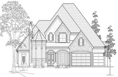 3-Bedroom, 3941 Sq Ft Luxury House Plan - 134-1110 - Front Exterior