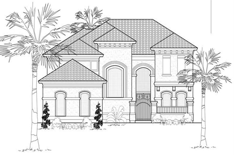 4-Bedroom, 4474 Sq Ft Mediterranean Home Plan - 134-1112 - Main Exterior