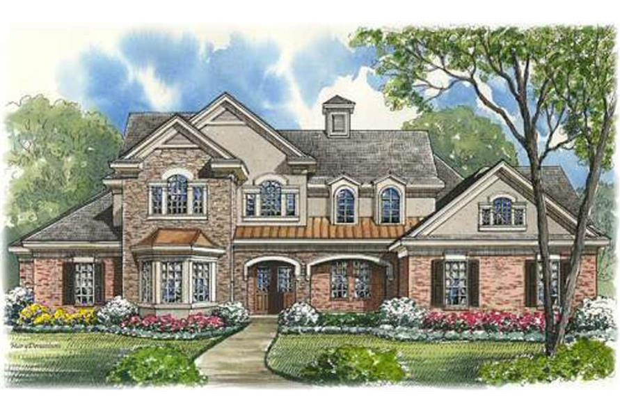 4-Bedroom, 4461 Sq Ft Luxury House Plan - 134-1114 - Front Exterior
