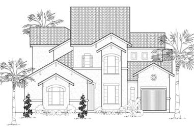 4-Bedroom, 4239 Sq Ft Mediterranean House Plan - 134-1117 - Front Exterior