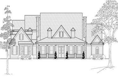4-Bedroom, 4221 Sq Ft Country Home Plan - 134-1118 - Main Exterior