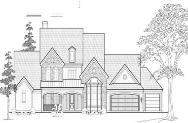5-Bedroom, 4550 Sq Ft Luxury Home Plan - 134-1120 - Main Exterior