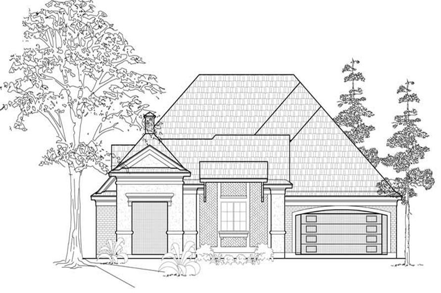 3-Bedroom, 2844 Sq Ft European House Plan - 134-1124 - Front Exterior
