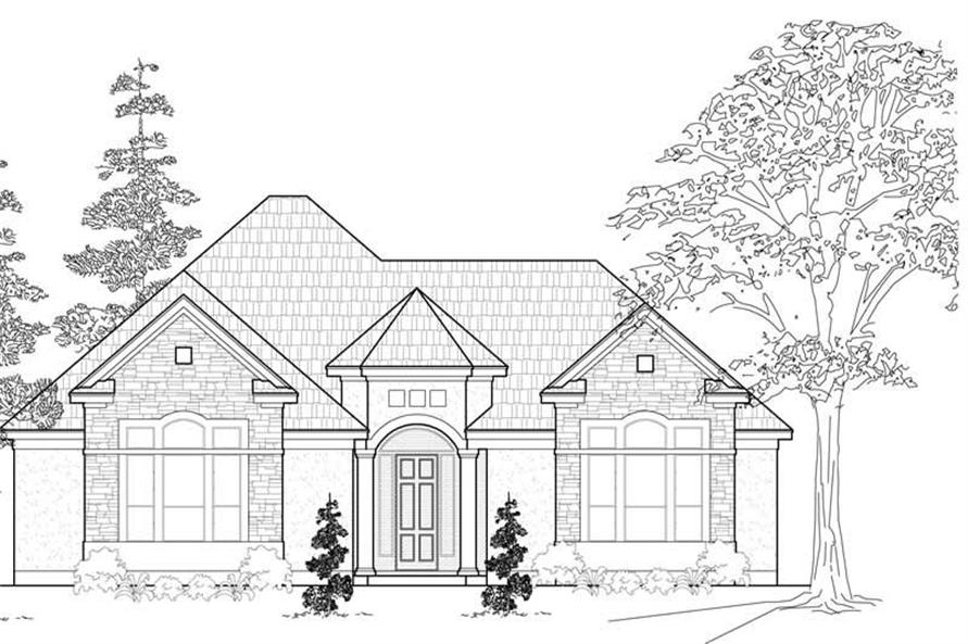 3-Bedroom, 2503 Sq Ft Ranch Home Plan - 134-1127 - Main Exterior