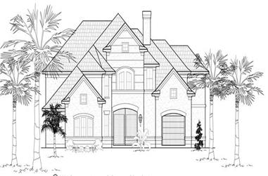 4-Bedroom, 4565 Sq Ft Mediterranean House Plan - 134-1128 - Front Exterior