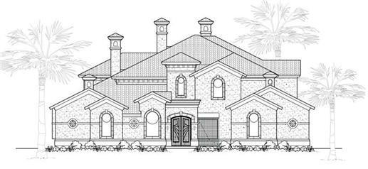 Main image for house plan # 19055