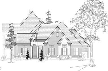 4-Bedroom, 4531 Sq Ft Luxury Home Plan - 134-1132 - Main Exterior