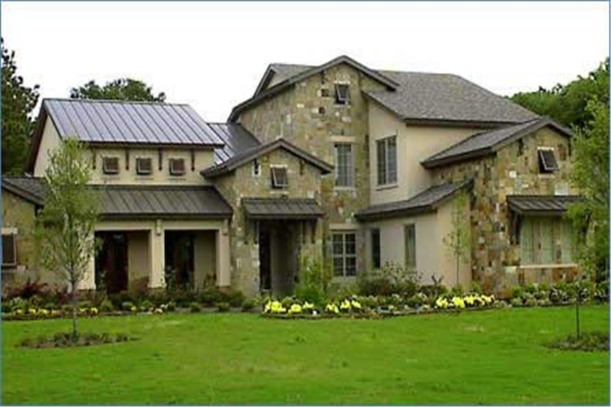 4-Bedroom, 4530 Sq Ft Country Home Plan - 134-1133 - Main Exterior
