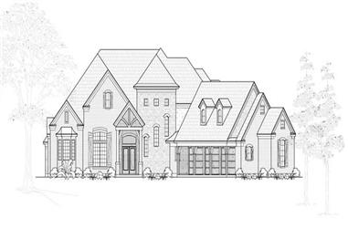 4-Bedroom, 4515 Sq Ft European Home Plan - 134-1134 - Main Exterior