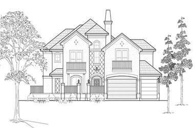4-Bedroom, 4471 Sq Ft Mediterranean House Plan - 134-1136 - Front Exterior
