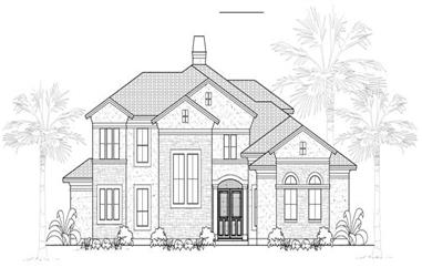 3-Bedroom, 3442 Sq Ft French Home Plan - 134-1142 - Main Exterior