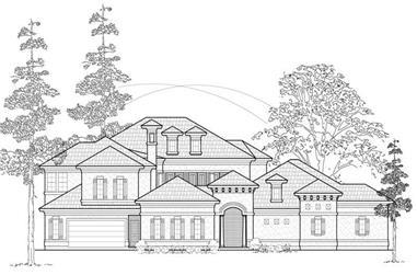 4-Bedroom, 4552 Sq Ft Luxury Home Plan - 134-1143 - Main Exterior
