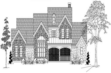 5-Bedroom, 4550 Sq Ft Country Home Plan - 134-1144 - Main Exterior