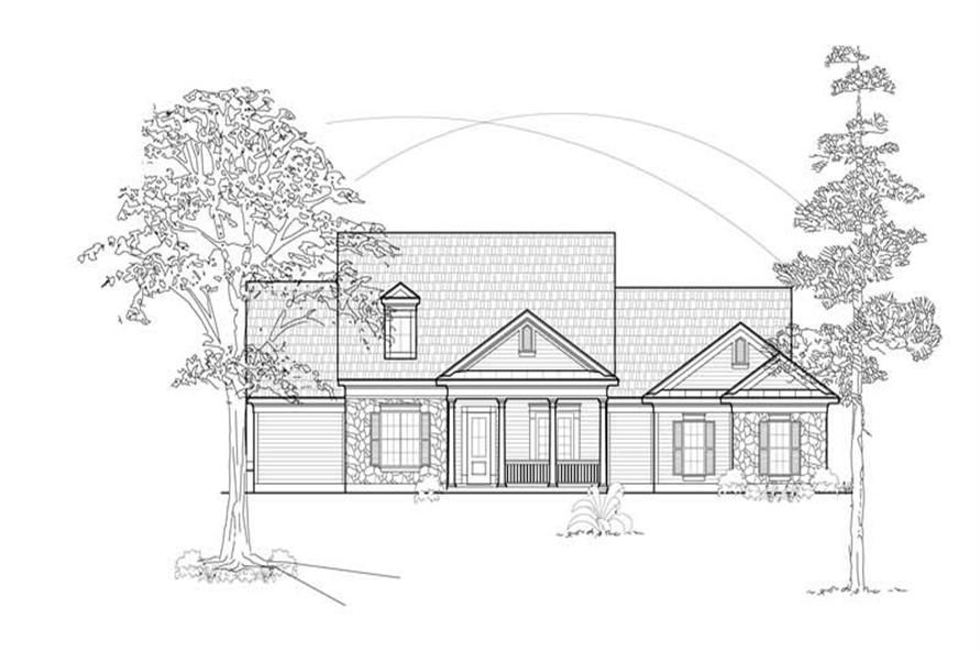 Home Plan Front Elevation of this 3-Bedroom,2797 Sq Ft Plan -134-1147