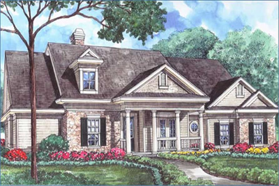 3-Bedroom, 2797 Sq Ft Country House Plan - 134-1147 - Front Exterior