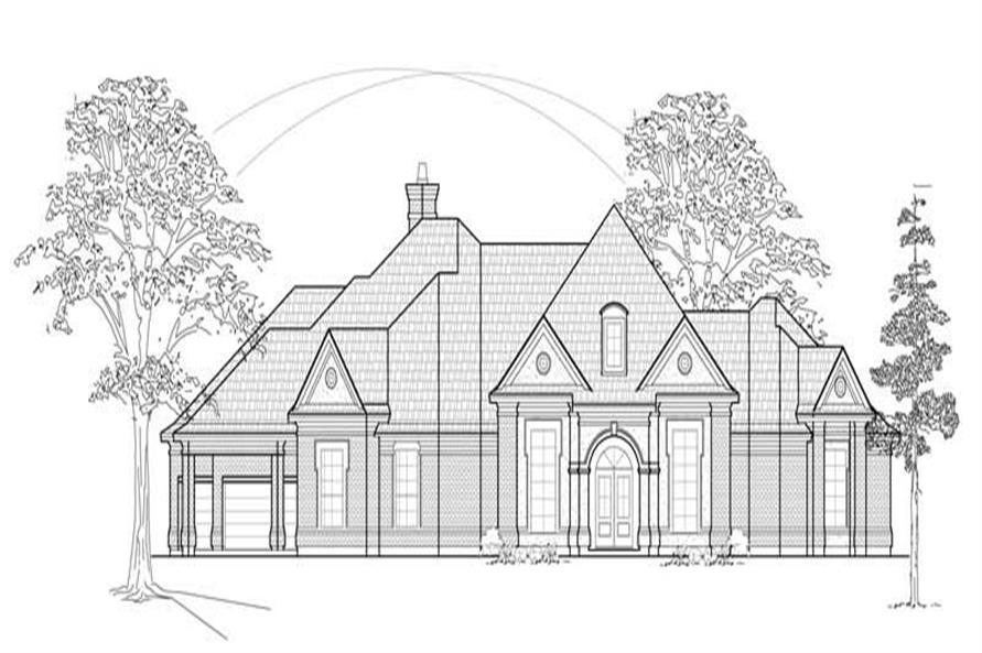 4-Bedroom, 3640 Sq Ft Luxury House Plan - 134-1151 - Front Exterior
