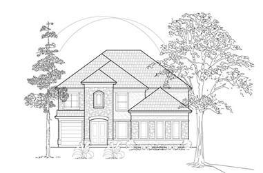 3-Bedroom, 3904 Sq Ft Mediterranean House Plan - 134-1153 - Front Exterior