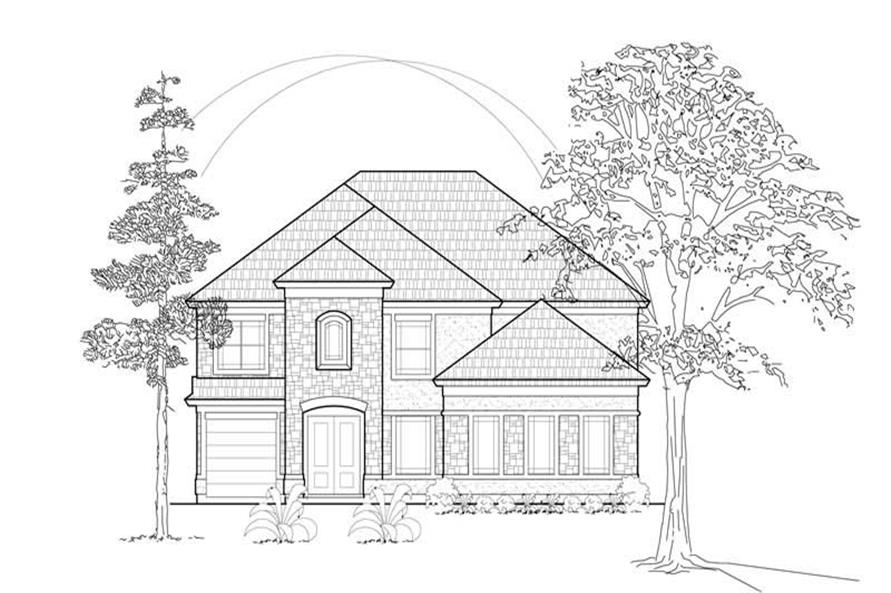 3-Bedroom, 3904 Sq Ft Mediterranean House Plan - 134-1153 - Front Exterior