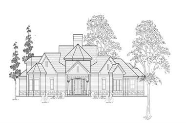2-Bedroom, 3896 Sq Ft Farmhouse House Plan - 134-1154 - Front Exterior