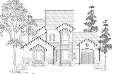 3-Bedroom, 3637 Sq Ft Mediterranean House Plan - 134-1155 - Front Exterior