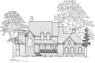 4-Bedroom, 3693 Sq Ft Country Home Plan - 134-1160 - Main Exterior