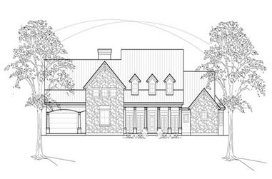 4-Bedroom, 3764 Sq Ft Country Home Plan - 134-1163 - Main Exterior