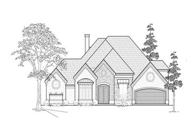 3-Bedroom, 3812 Sq Ft Luxury House Plan - 134-1165 - Front Exterior