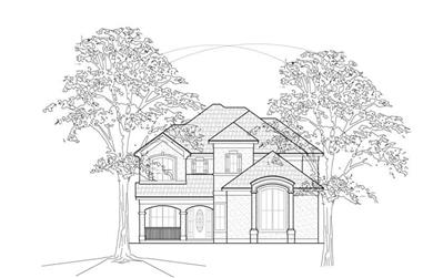 3-Bedroom, 2756 Sq Ft Traditional House Plan - 134-1167 - Front Exterior