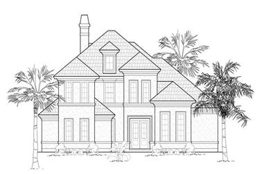 3-Bedroom, 3765 Sq Ft Luxury Home Plan - 134-1168 - Main Exterior