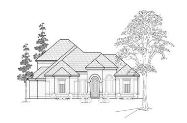 3-Bedroom, 3188 Sq Ft Traditional Home Plan - 134-1169 - Main Exterior