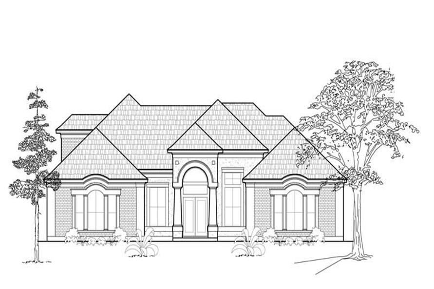 4-Bedroom, 3786 Sq Ft Luxury Home Plan - 134-1170 - Main Exterior