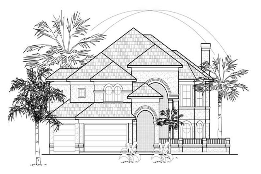 MAIN ELEVATION of this 4-Bedroom,4354 Sq Ft Plan -4354