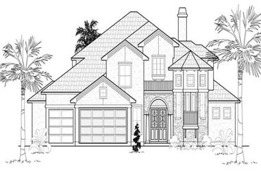 4-Bedroom, 4270 Sq Ft Mediterranean House Plan - 134-1173 - Front Exterior