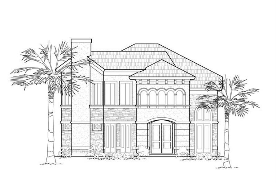 Home Plan Front Elevation of this 3-Bedroom,2412 Sq Ft Plan -134-1174