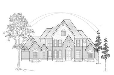 4-Bedroom, 4274 Sq Ft Luxury House Plan - 134-1177 - Front Exterior