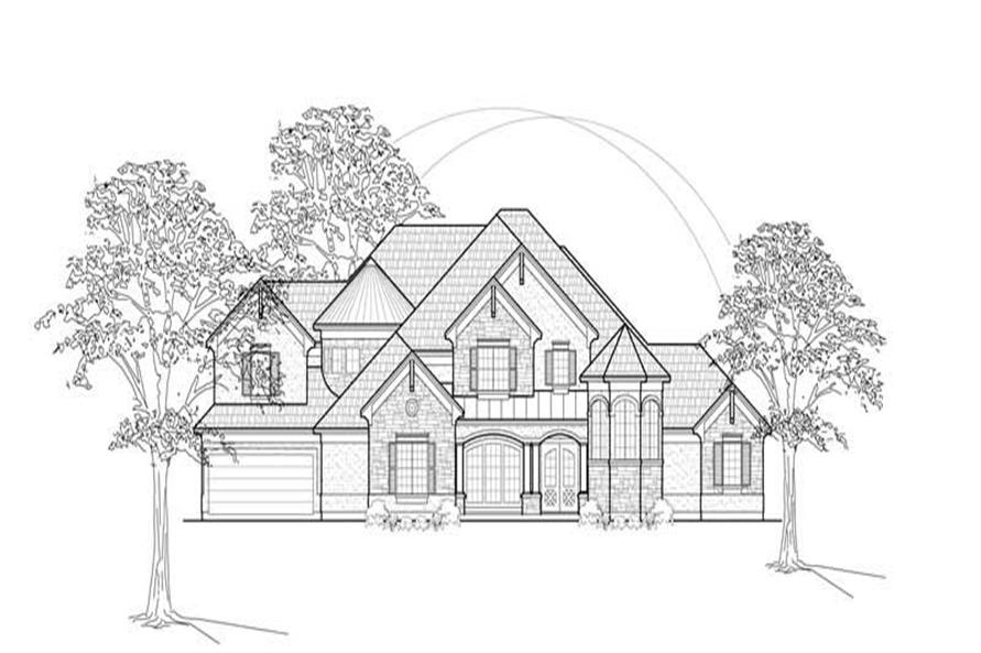 Home Plan Rendering of this 4-Bedroom,4328 Sq Ft Plan -134-1178