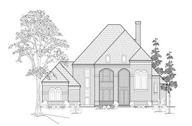 4-Bedroom, 4235 Sq Ft Luxury House Plan - 134-1179 - Front Exterior