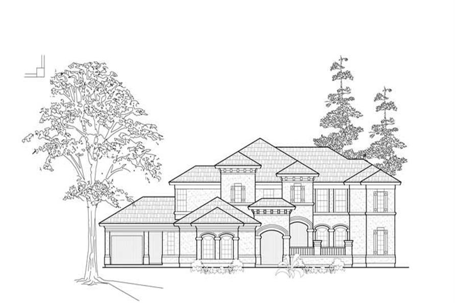 Home Plan Rendering of this 4-Bedroom,4220 Sq Ft Plan -134-1181