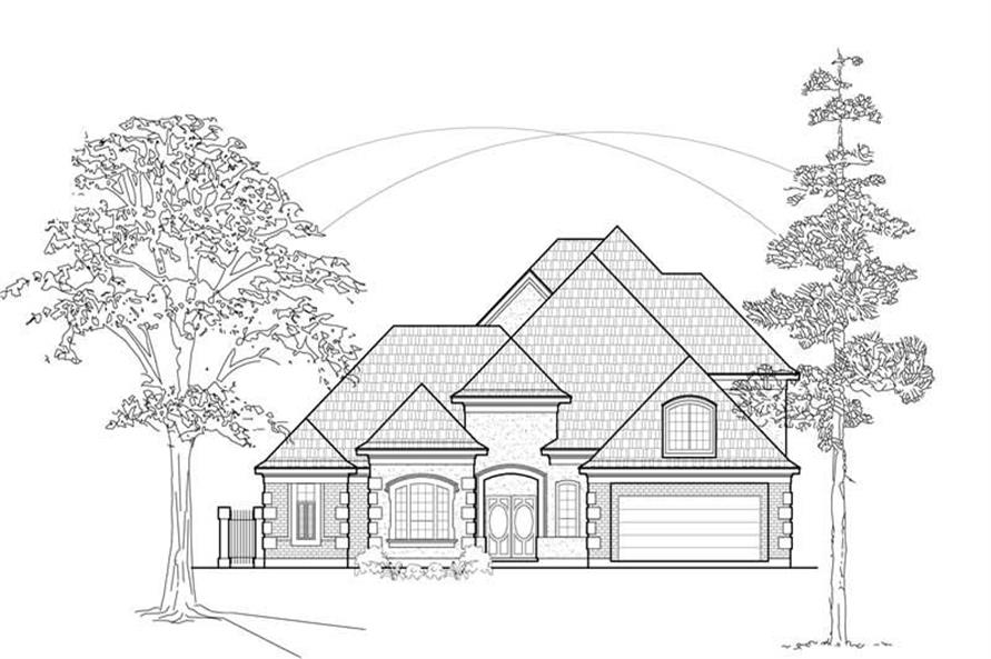 Main image for house plan # 8684