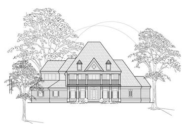 4-Bedroom, 4514 Sq Ft Colonial Home Plan - 134-1186 - Main Exterior