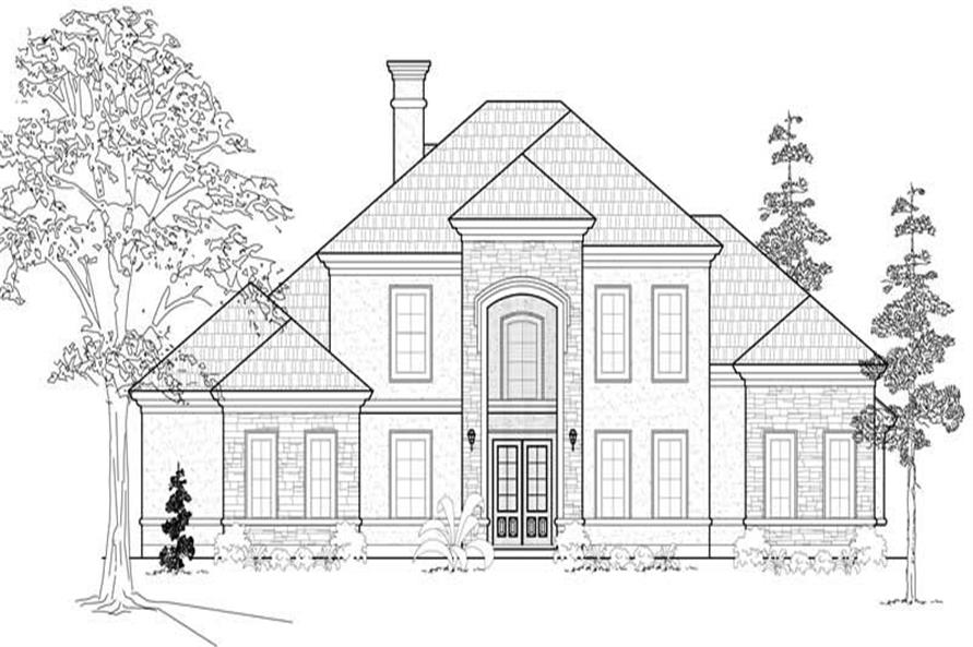 5-Bedroom, 4341 Sq Ft Luxury House Plan - 134-1188 - Front Exterior