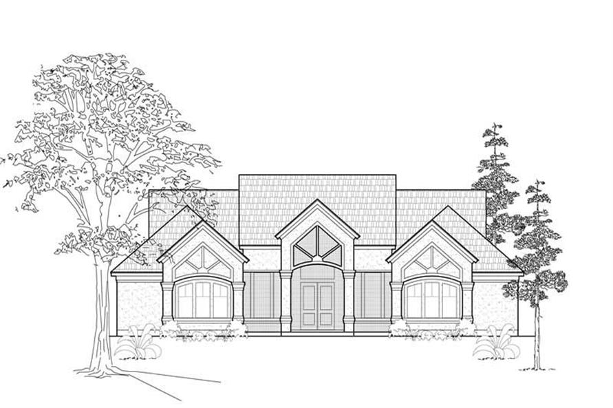 Home Plan Rendering of this 4-Bedroom,3997 Sq Ft Plan -134-1190