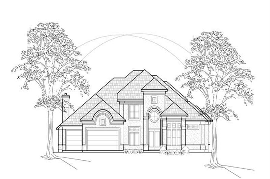 MAIN ELEVATION of this 4-Bedroom,4056 Sq Ft Plan -4056