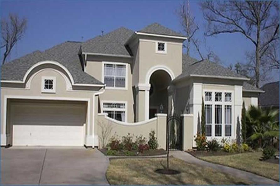 4-Bedroom, 4056 Sq Ft Luxury House Plan - 134-1194 - Front Exterior